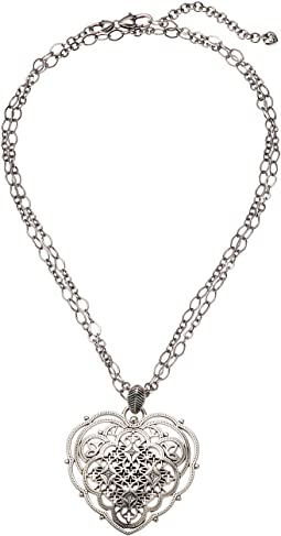 Brighton Bella Roma Heart Convertible Necklace
