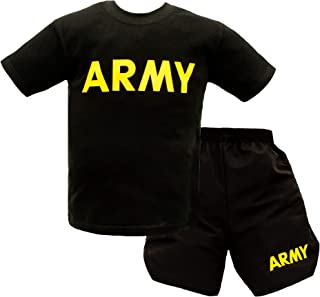 New Trooper Children's US Army PT Uniform T-Shirt and Shorts Set