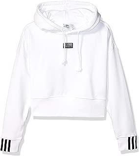 adidas crop hoodie white