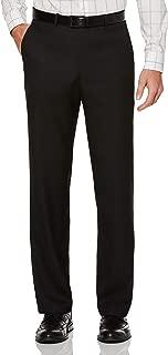 Men's Portfolio Classic-Fit Flat-Front Sharkskin Pant
