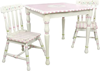 Fantasy Fields - Bouquet Thematic Hand Crafted Kids Wooden Table and 2 Chairs Set |Imagination Inspiring Hand Crafted & Hand Painted Details Non-Toxic, Lead Free Water-based Paint