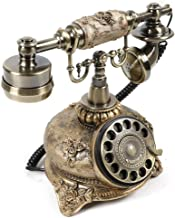 $89 » Vintage Rotary Phone, Double Ringtones Royal Vintage Telephone Classic Old Fashioned Dial Telephone for Home and Decor (Eu...