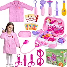 TEPSMIGO Toy Doctor Kit for Girls, 22 Piece Kids Pretend Play Toys Nurse Costume Dentist Medical Role Play Educational Toy...