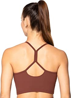 Sunzel Cropped Tank Tops for Women Without Pad Camisole Sports Bra for Yoga Workout