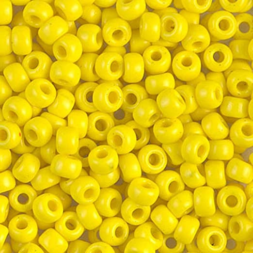 Miyuki Round Seed Beads Size 6/0 20g Opaque Yellow