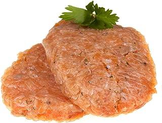 FROZEN SALMON BURGER   Soft Delicious & Tender   Fatty & Mild Flavor   No Artificial Flavors & Preservatives   Freshly Hig...