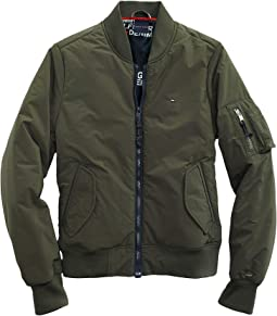 Bomber Jacket with Magnetic Zipper