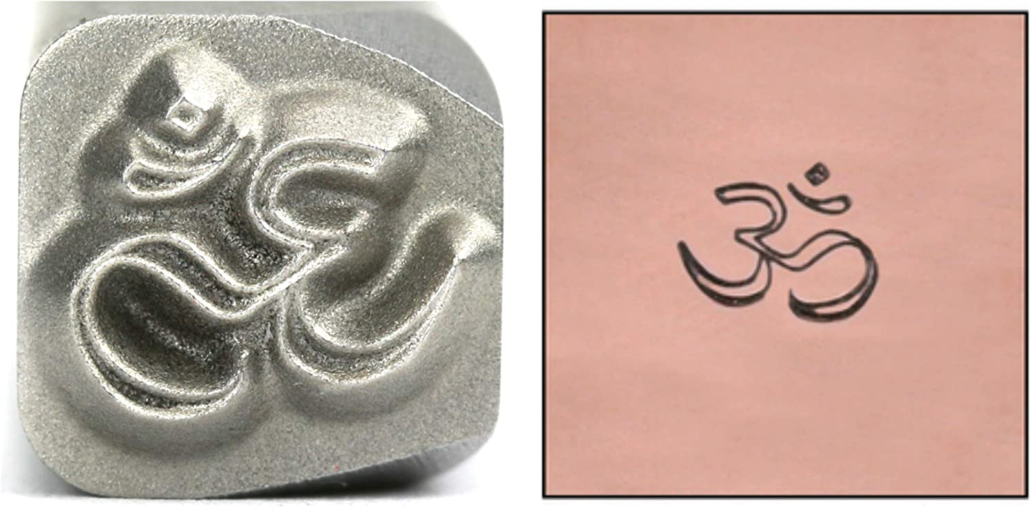 Om Metal Design Stamp Don't miss the campaign 5mm Mantra Yoga Punch Stamping Meditation Seasonal Wrap Introduction