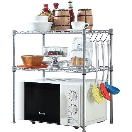 2 Tier Microwave Oven Stand Shelf Rack Storage Kitchen Storage Organiser Holder