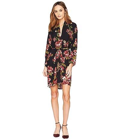 American Rose Colette V-Neck Wrap Dress (Black) Women