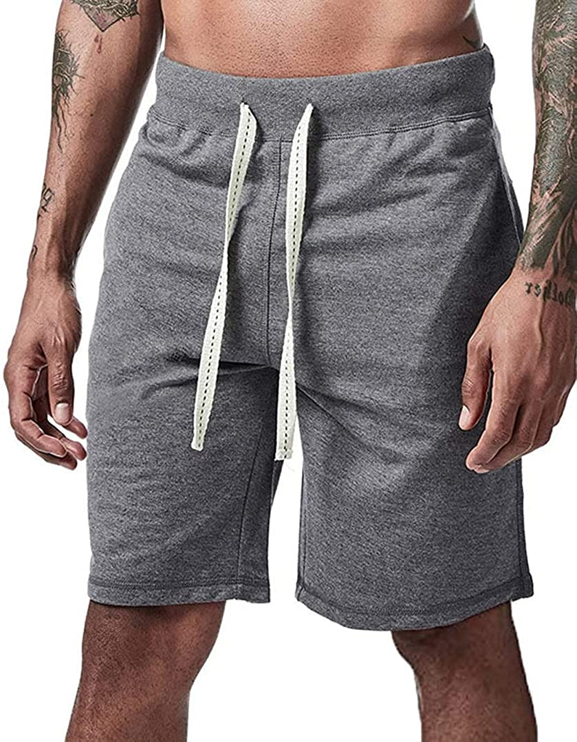 SURVEAL Authentics Plus Size Mens Gym Shorts Relaxed Fit Cotton Casual Shorts with Multi Pockets