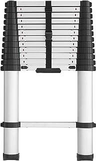 Cosco 20313T1ASE Smartclose Telescoping Aluminum Ladder, (300-Pound Capacity, 12.5 ft...