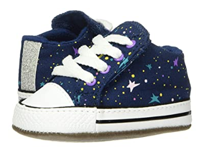 Converse Kids Chuck Taylor(r) All-Star(r) Cribster Gravity Graphic Mid (Infant/Toddler) (Navy/Bright Violet/White) Girls Shoes