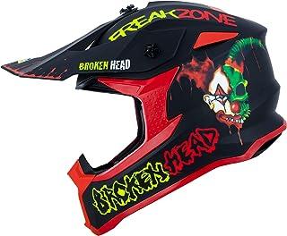 Broken Head FreakZone Cross-Helm Schwarz-Grün-Rot matt – Motocross – MX – Quad – Supermoto S 55-56 cm