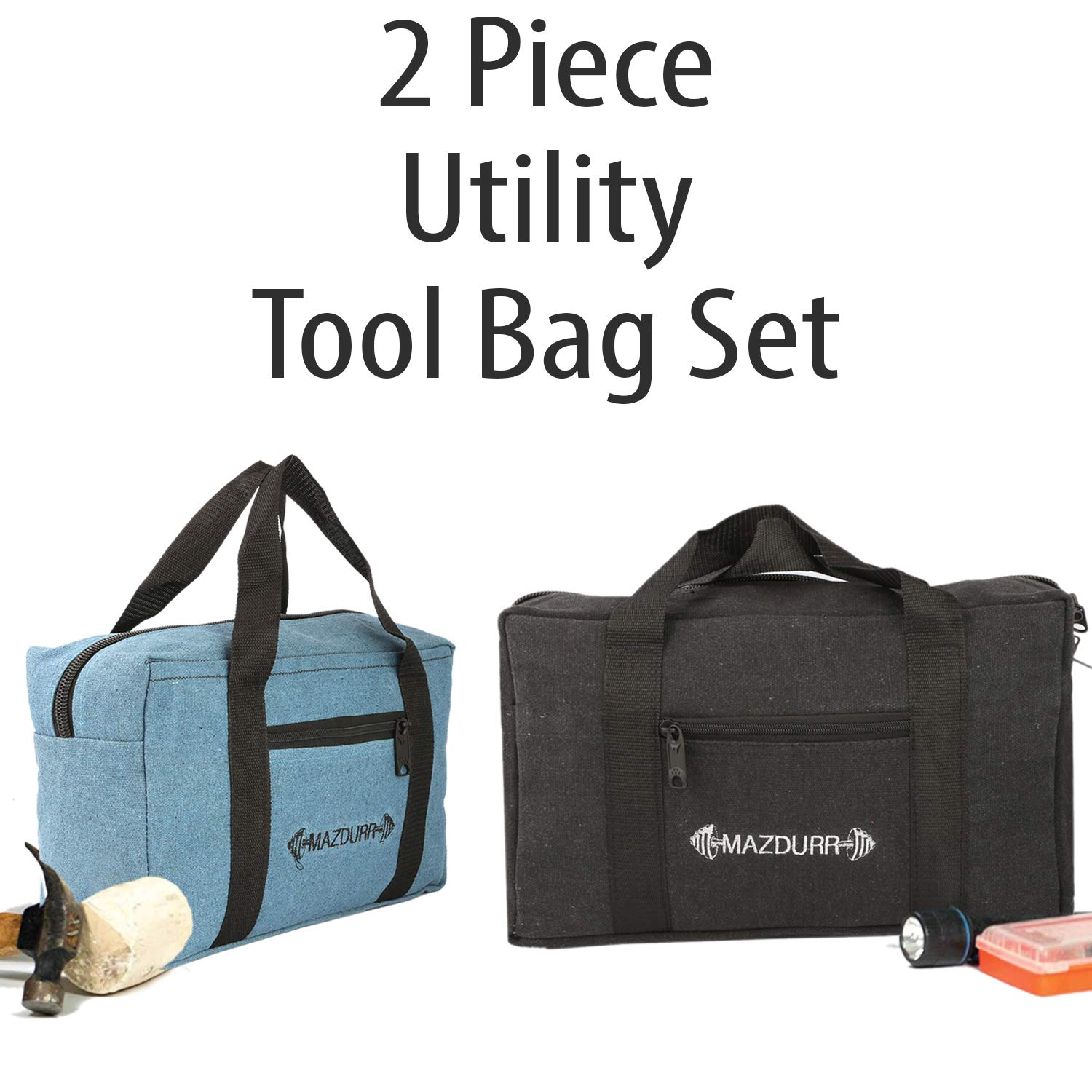 Canvas Tool Bag Combo Includes 15 Medium 13 Small Tool Bag Organizer Tote Bags For