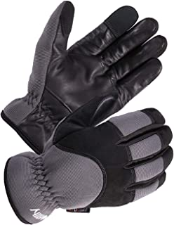 SKYDEER Men's Genuine Leather Winter Cold Weather Gloves with Fleece Insulation (SD2240T/XL)