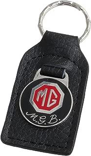 Triple-C MG MGB Leather and Enamel Key Ring Key Fob