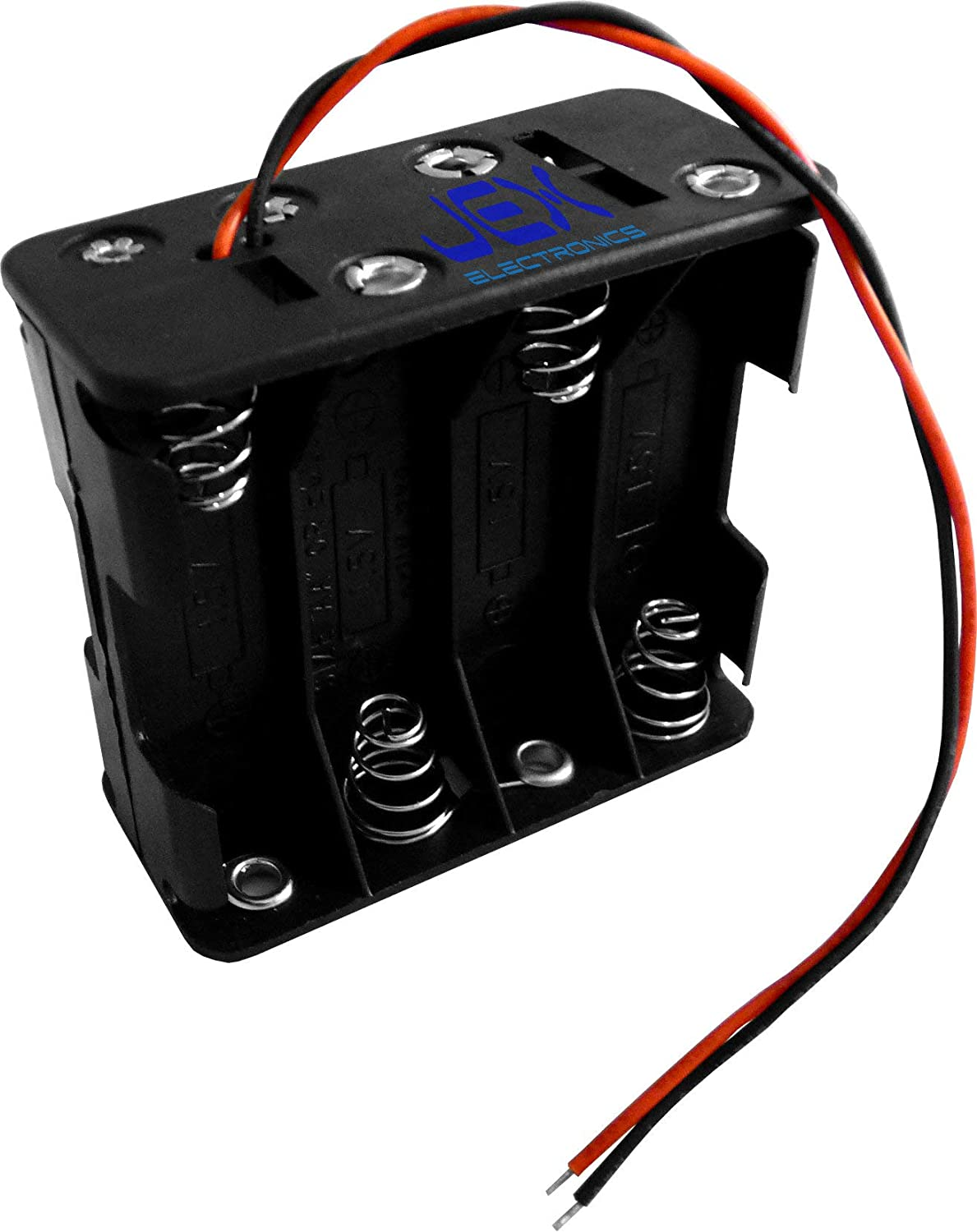 Jex Electronics Eight/8X AA DIY Battery Holder Case Box Base 12V Volt PCB Mount with Bare Wire Ends
