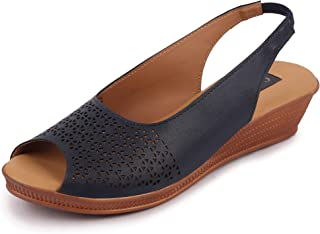 Bata Women's Casual Wedge Sandals