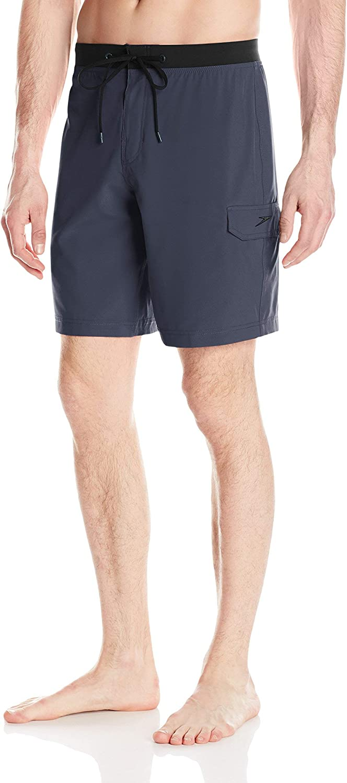 Speedo Men's Swim Trunk Knee Length Boardshort Stretch Tech-Discontinued