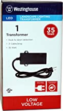 Westinghouse 700012-06W 35W LED Transformer with Photo Cell, Black