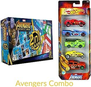 Combo Offer Mervel Avenger Infinity War Game & Hot Wheels Themed Avengers Car