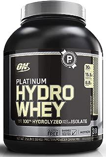 OPTIMUM NUTRITION Platinum Hydrowhey Protein Powder, 100% Hydrolyzed Whey Protein Powder, Flavor: Chocolate Mint, 3.5 Pounds