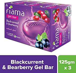Fiama Gel Bar Blackcurrant and Bearberry, 125 g (Pack of 3)