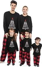 WOZOW Cotton Christmas Pajamas Set for Family