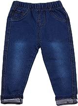 Aulase Kids' Pants Toddler Kids' Jeans Elastic Waist Comfortable Slim Fit Pants Skinny Pants