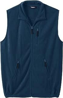 Men's Big & Tall Fleece Zip Vest