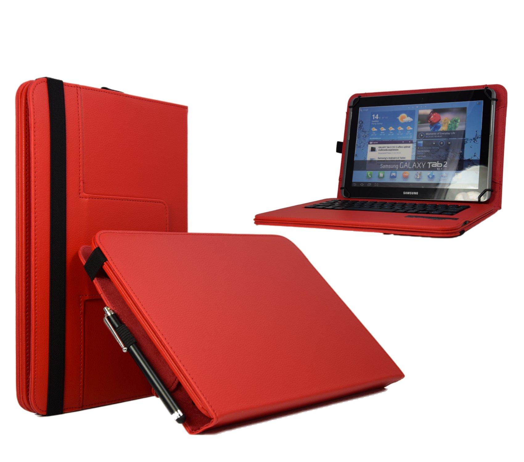 9.7 pulgadas teclado Bluetooth QWERTY Tablet Case/Libro Funda ...