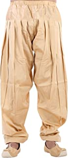 Royal Kurta Men's Silk Blend Patiala Salwar Alladin Pant Free Size Gold