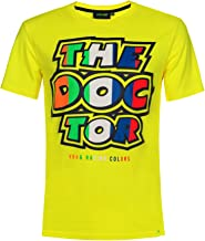 Valentino Rossi VR46 Moto GP The Doctor Stripes Yellow T-Shirt Official 2019