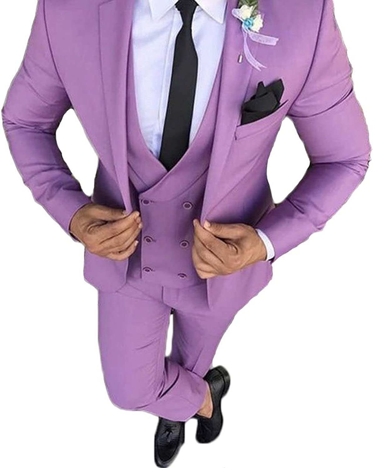 Mens Bright Colorful Suits Slim Gifts Groom Wedding Fit W Genuine Tuxedo