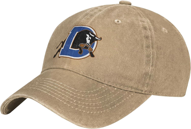 Durham Bulls Hats for Men Women College Team Logo Vintage Adjustable Washed Baseball Cap