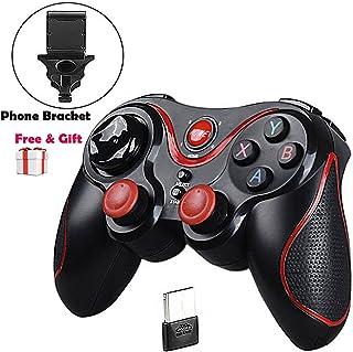 Mando Inalámbrico para Juegos, Maegoo 2.4GHz Bluetooth Game Controller Gamepad Joystick Inalámbrico con Soporte de Teléfono para Android Smartphone Xiaomi Huawei Samsung PC Windows PS3 Smart TV etc.