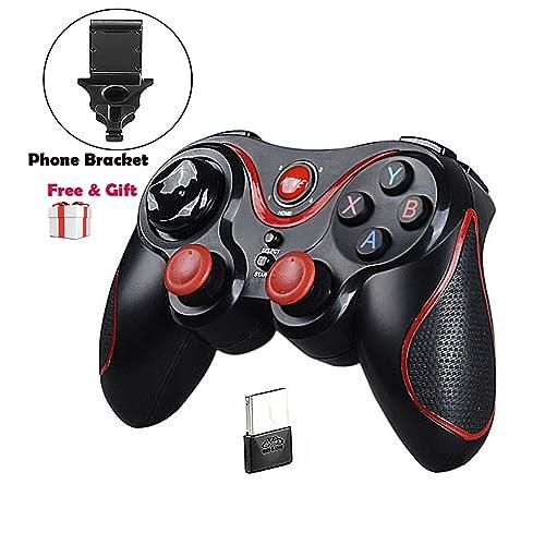 MallTEK Mando Inalámbrico para Juegos, 2.4GHz Bluetooth Game Controller Gamepad Joystick Inalámbrico con Soporte