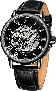FORSINING Men's Super Quality Alloy Case Mechanical Movement Antique Fashion Leather Wristwatch