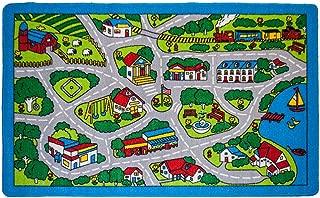 Mybecca Kids Rugs Street Map in Grey 8 x 11 Childrens Area Rug 7' feet 2