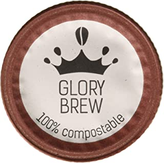 GLORYBREW - The Noble - 12 count 100% Compostable Coffee Pods for Keurig K-Cup Coffee Brewers - Rainforest Alliance certified – Extra Dark Roast | Better than Recyclable and Biodegradable Coffee Pods