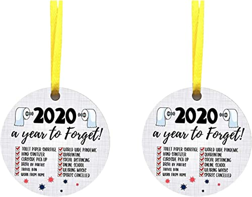 new arrival OPTIMISTIC Christmas Tree Ornament Decoration, 2020 Events Commemorative Ornament Decoratings sale - new arrival Toilet Paper Crisis,Quarantine,Mask - Personalized Christmas Party Home Holiday Decor sale
