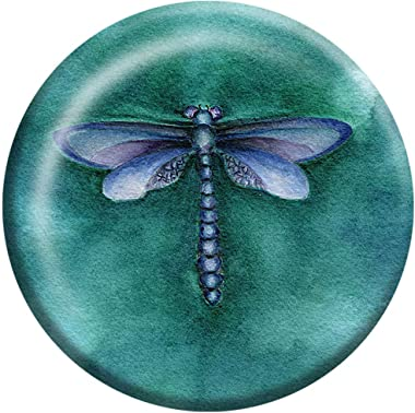 """Rachel Tribble - Dragonfly Crystal Glass Paperweight, Paper Weights Decorative, 3"""" X 3"""" Paperweight for Office Desk, Coffee T"""