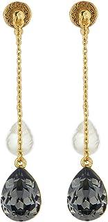 Oscar de la Renta Pearl & Crystal Earrings