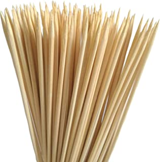"""Honeybeloved 100 pcs Bamboo Skewers 10"""" Natural for Barbecue Grill Shish Kabob Food Chicken Appetiser Chocolate Fountain C..."""