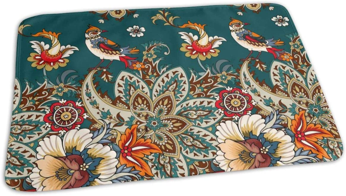 UAJAR Paisley Albuquerque Mall and Flowers Baby Reusable Porta Pad Max 59% OFF Changing Cover