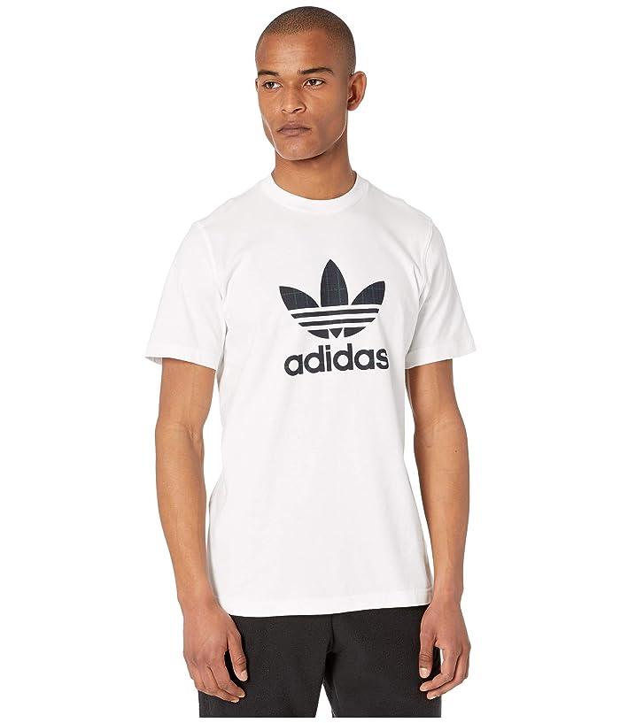 adidas Originals  Tartan Infill Tee (White) Mens T Shirt