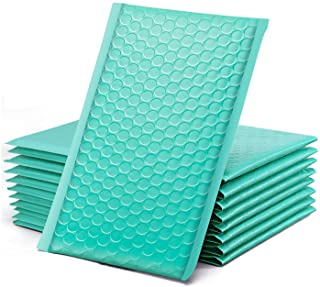 """GSSUSA Teal Bubble Mailers, 4x8"""" Inches, 50 Pack, Padded Poly Mailers, Packaging for Small Business, Shipping Bags, Packag..."""