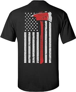 Patriot Apparel New Thin Red Line Fire Firefighter T-Shirt Axe Design