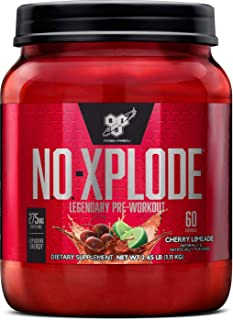 BSN N.O.-XPLODE Pre-Workout Supplement with Creatine, Beta-Alanine, and Energy, Flavor: Cherry Limeade, 60 Servings